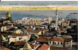 SALONIQUE .  DU HAUT DU MINARET - Griekenland