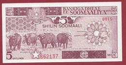 Somalie -5 Shilin 1987 -UNC (NEUF) - Somalië