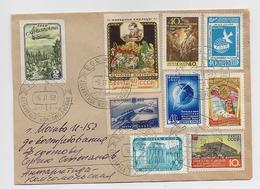 ANTARCTIC Komsomolskaya Station 3 SAE Base Pole Mail Cover USSR RUSSIA Plane - Bases Antarctiques