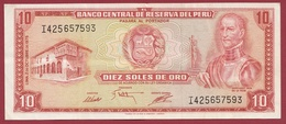 Pérou -10 Soles De Oro Du 02/10/1975 Bon état - Peru