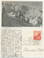 AK Krummhübel 1938, Baude Hampelbaude, Schlesien, Bahnpost Hirschberg ZUG 2446 - Schlesien