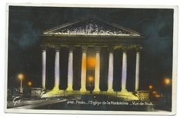 CP / PARIS / L'EGLISE DE LA MADELEINE VUE DE NUIT 1937 - Eglises