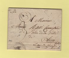 Cherasco - 105 - 1809 - Mairie De Cherasco Pour Le Commissaire De Police De Chieri - Departement Conquis De La Stura - Storia Postale