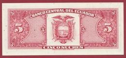Equateur -5 Sucres  Du 22/11/1988 -UNC (NEUF) - Ecuador