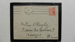 France > Marcophilie (Lettres) > Oblitération Mécanique A Deux Cachets - Marcophilie (Lettres)