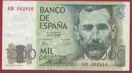 Espagne -1000 Pesetas- Du 23/10/1979 Dans L 'état - [ 4] 1975-… : Juan Carlos I