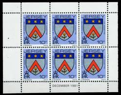 JERSEY HEFTCHENBLATT Nr HB 0-28 DEZ81 Postfrisch X6BE752 - Jersey