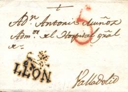 D.P. 15. 1817. Carta De León A Valladolid. RRR. - ...-1850 Prefilatelia