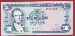 Jamaique - 10 Dollars Du 01/03/1994 -Bon état - Jamaica