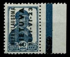BES 2WK LITAUEN Nr 3 Postfrisch X70A492 - Besetzungen 1938-45