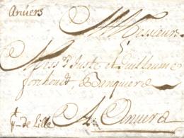 D.P. 26. 1707. Carta Circulada De Cádiz A Holanda. - Spanje