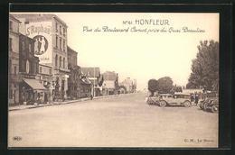 CPA Honfleur, Vue Du Boulevard Carnot Prise Du Quai Beautieu - Honfleur