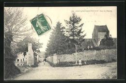 CPA Fontaine-Etoupefour, Rue De L`Eglise - Francia