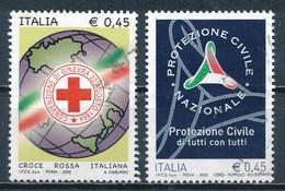 °°° ITALIA 2005 - CROCE ROSSA E PROTEZIONE CIVILE °°° - 6. 1946-.. Republic
