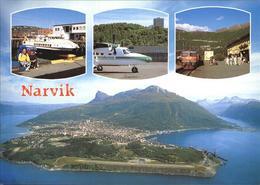 72576447 Narvik Hafen Flugplatz Bahnhof Fliegeraufnahme Aalesund - Norwegen