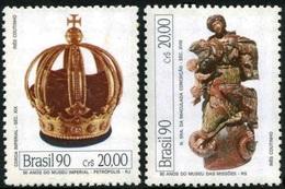 BRAZIL #2247-48  -  BRAZILIAN MUSEUMS  - 1990  -   2v   MNH - Brazil