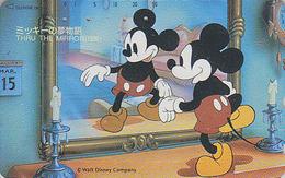 Télécarte Japon / 110-128222 - DISNEY - Série Film 2/3 - THROUGH THE MIRROR -  Japan Movie Cinema Phonecard - Disney