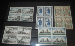 France  Neuf** N° 1481, 1482, 1524, 1549, 1446   5 BLOCS DE 4 TIMBRES - Full Sheets