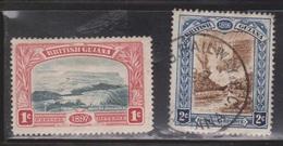 BRITISH GUIANA Scott # 152-3 Used - Mount Roriama & Kaieteur Falls - British Guiana (...-1966)