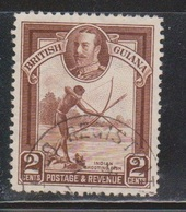 BRITISH GUIANA Scott # 211 Used - KGV & Indian Shooting Fish - British Guiana (...-1966)