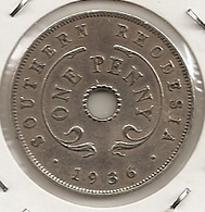 SOUTHERN RHODESIA RHODESIE 1 PENNY 1936 RARE ETAT 48 - Rhodesië