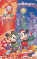 Télécarte Japon / 110-203503 - DISNEY STORE - NOEL - MICKEY DONALD TAMBOUR -  CHRISTMAS 1998 Japan Phonecard - Disney
