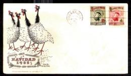 745  Noel - Christmas - Birds -Farm - FDC - 1955 - Cb - 4,75 - Noël