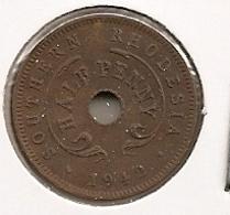 SOUTHERN RHODESIA RHODESIE HALF PENNY 1942 DIFFICILLE 53 MTG 240 000 - Rhodesia