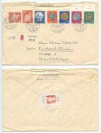 Switzerland 1964 Registered Cover Laufenburg To Forbach Germany, Scott B334-B338 - Switzerland