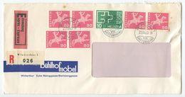 Switzerland 1963 Registered Special Delivery Cover Winterthur - Bühlhof Möbel To Reichenburg - Switzerland