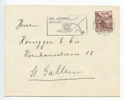 Switzerland 1950's Cover To St. Gallen, Slogan Cancel Pro Infimis Will Helfen - Switzerland
