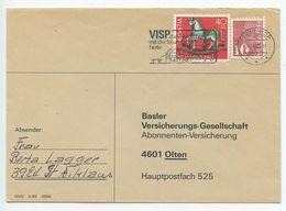 Switzerland 1985 Cover Visp To Oltern - Basler Versicherungs-Gesellschaft - Switzerland