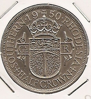 SOUTHERN RHODESIA RHODESIE HALF CROW  1950 RARE ET RARE ETAT 59 - Rhodesia