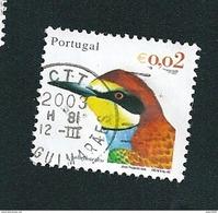 N° 2549 Oiseau Du Portugal Abelharuco   0.02 € Oblitéré Timbre  Portugal 2002 - Oblitérés