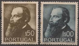 Portugal 1951 - Centenário Nascimento Guerra Junqueiro - The 100th Brithday Of Junqueiro - Set Complete - Mint / Neuf - Ongebruikt