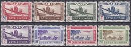 Elfenbeinküste Ivory Coast Cote D'Ivoire 1942 Luftfahrt Aviation Flugzeuge Aeroplane Karawane Caravan, Mi. 190-7 ** - Costa D'Avorio (1960-...)