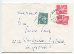 Switzerland 1964 Cover Dornach To Wiesbaden-Biebrich, Germany, Pictorial Pmk - Switzerland
