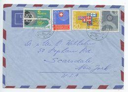 Switzerland 1967 Airmail Cover Wallisellen To Scarsdale New York, Scott 476/482 - Switzerland
