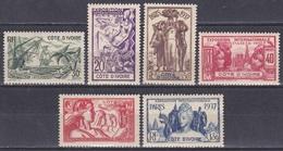 Elfenbeinküste Ivory Coast Cote D'Ivoire 1937 Weltausstellung EXPO Paris Handel Trade Kunst Arts Fruits, Mi. 153-8 ** - Ivory Coast (1960-...)
