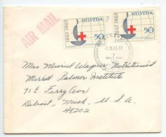 Switzerland 1963 Airmail Cover Geneva To U.S., International Red Cross Exposition - Switzerland