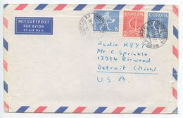 Switzerland 1966 Airmail Cover Zürich To Detroit, Michigan - Radio K8YTO - Switzerland