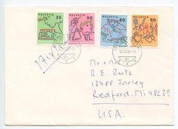 Switzerland 1988 Airmail Cover Effretikon To U.S., Scott B456-B549 Education - Switzerland