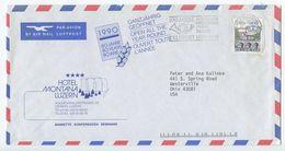 Switzerland 1989 Airmail Cover Luzern - Hotel Montana Luzern To Westerville, Ohio - Switzerland