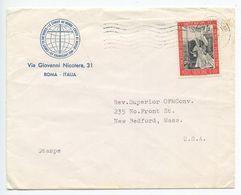 Vatican 1967 Cover To New Bedford Massachusetts, Scott 439 Pope John XXIII - Covers & Documents