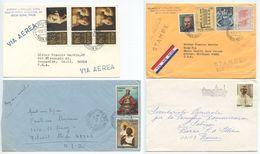 Vatican 1970's 4 Covers, Mix Of Stamps - Vatican