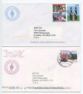 San Marino 2000's 2 Covers Associazione Radioamatori To Franklin Michigan - K8YTO - San Marino