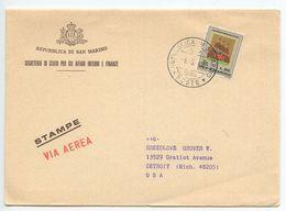 San Marino 1969 Airmail Cover Segreteria Si Stato Per Gli Affari Interni E Finanze - San Marino