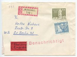 Germany, East 1976 Registered Special Delivery Cover Neuruppin To Berlin, Scott 1436 - [6] Democratic Republic