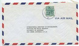 Germany, East 1956 Airmail Cover Potsdam To Ann Arbor Michigan, Scott 197 Locomotive - [6] Democratic Republic