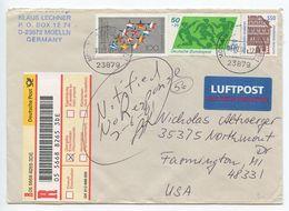 Germany 2001 Registered Airmail Cover Mölln To Farmington, Michigan - [7] Federal Republic
